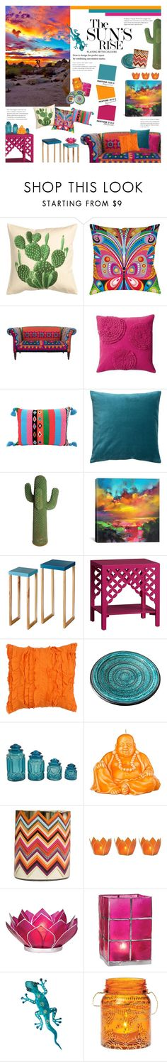 """""""Take Me To The Desert"""" by happilyjynxed ❤ liked on Polyvore featuring interior, interiors, interior design, home, home decor, interior decorating, H&M, Thumbprintz, PBteen and iCanvas"""