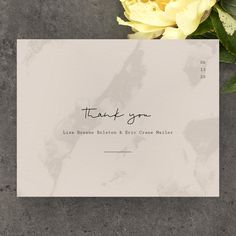 Show your gratitude with the Delamar Type thank you card. Printed on luxe paper, this minimalist design presents a marbled background and delicate typography. It's a stunning option for art lovers looking for something timeless. Tank You, Minimalist Design, Lovers Art, Gratitude, Thank You Cards, Wedding Planning, Typography, Presents, Delicate