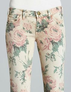 Current/Elliott - The Stiletto Haystack Floral Print Jeans