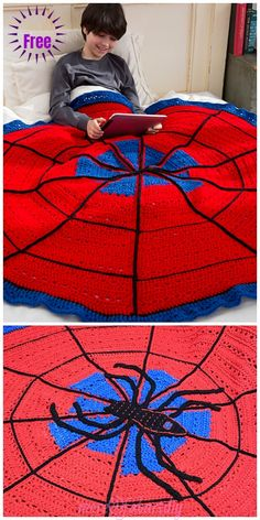 Crochet For Beginners Crochet Spider Web Throw Blanket Free Crochet Pattern - Crochet Spider Web Throw Blanket Free Crochet Pattern Crochet For Boys, Diy Crochet, Crochet Baby, Beginner Crochet Projects, Crochet For Beginners Blanket, Afghan Crochet Patterns, Baby Knitting Patterns, Crochet Afghans, Manta Crochet