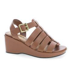 AnsaIIS Children's Girl Open Toe Caged Platform Wedge Heeled Sandals