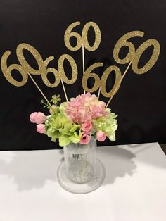 18 Best 60th Birthday Centerpieces Images Decorating