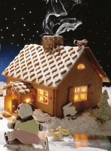 Christmas Houses, Christmas Cookies, Cookie House, Gingerbread Houses, Home Recipes, Israel, Biscuits, Christmas Decorations, Xmas