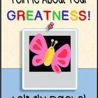 This engaging packet is designed to be used with the book, Tell Me About Your GREATNESS! by Sarah How. The packet has 2 or more activitie. Character Qualities, First Page, Differentiation, Tell Me, The Book, Classroom, Activities, Recipe, Heart