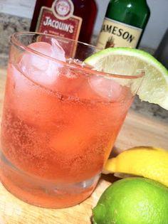 Irish Redhead Cocktail- jameson, grenadine, ginger ale, lemon and lime, and optional muddled blackberries.  SIGN ME UP