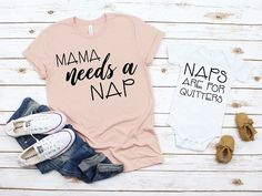 Mama Needs a Nap Mommy and Me Matching Shirts, Mama Shirt, Mom & Daughter, Mom & Son- Set of 2 Shirts Mother Daughter Shirts, Mothers Day Shirts, Mother Son, Mom Son, Mommy And Me Shirt, Mommy And Me Outfits, Mommy And Me Clothing, Family Outfits, Mom Clothes