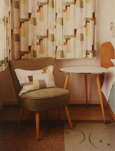 1980's take on mid century interior design. Thomas Ruff, Interieur, 1980