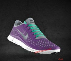 promo code 074ef da17f Cheapest Womens Nike Free 3.0 V4 Magenta Reflective Silver Pro Platinum New  Green Lace Shoes