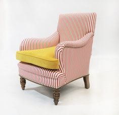 Available upholstered in any leather or fabric of your choice! Traditional Chairs, Traditional Furniture, Sales Office, Gladstone, Armchair, Lounge, Victorian, Table, Fabric