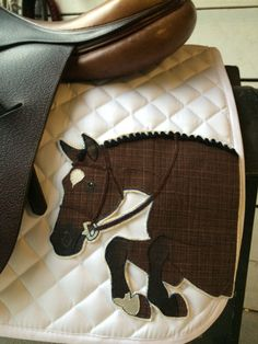 The Saddle Pad: Hunter Editions by TheArtfulEquine on Etsy. I want with Brady customization!!!
