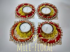 This Diwali lighten up your home with these floral Diya Made of artificial flowers and metal Diya holders. Perfect gifting option during Diwali. Place your order soon. Bulk orders also accepted. DM for more details. Diwali Diya, Diwali Craft, Desi Wedding Decor, Wedding Decorations, Diwali Decoration Items, Acrylic Rangoli, Trousseau Packing, Silk Thread Bangles, Paper Crafts