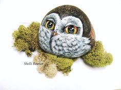 Owl hand painted rocks by Shelli Bowler by PaintedRocksbyShelli