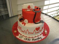 Nurse graduation cake By luvtodecorate on CakeCentral.com