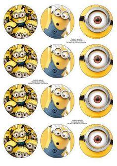 Resultado de imagen para imprimibles minions gratis Cupcake Minions, Candy Bar Minions, Minion Cupcake Toppers, Minions Eyes, Minions Despicable Me, My Minion, Minion Theme, Minion Party, Minion Birthday Invitations