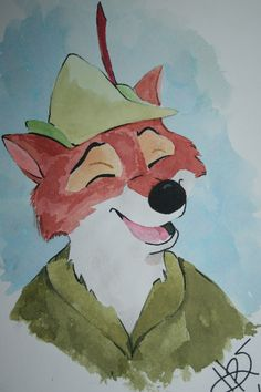 Disney's Robin Hood! water color!