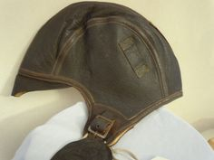Leather aviator pilot cap hat VINTAGE NAF 1092 Reference photo of authentic hat