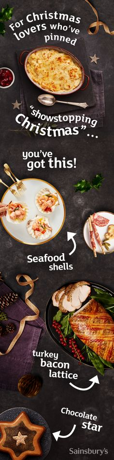 t miss out on a show stopping Christmas with our exclusive Christmas food ordering range. Hurry, only available until the December Slow Cooker Recipes, Cooking Recipes, Healthy Recipes, New Year's Food, Good Food, Gluten Free Recipes For Dinner, Dinner Recipes, Sainsburys Recipes, Appetizer Buffet
