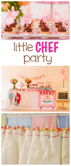 Step-by-step #Chef-Themed #Kids' #Party instructions with beautiful pictures to show you what you next party could look like.  Let your kiddos be chefs for the day!  :)