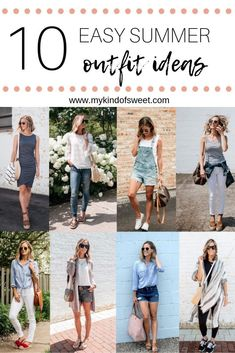 10 Easy Summer Outfit Ideas | my kind of sweet | summer style | casual style | mom style | style blogger | what to wear to summer BBQ | budget friendly style | women's fashion #style #outfits #outfitideas #dresses #casual #casualstyle #momstyle #styleblogger #styleinspiration