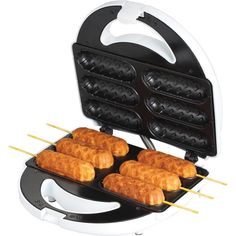 Retro Hot dog Sandwich Waffle Maker on Stick Snack Iron Baker Kitchen Chef Corn Dogs, Clean Recipes, Dog Food Recipes, Waffle Recipes, Pancake Recipes, Gf Recipes, Copycat Recipes, Corn Dog Maker, Decorating Kitchen