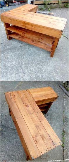 Pallet corner Desk