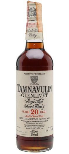 Official sherried Tamnavulin-Glenlivet 20 yo bottled in for the italian market. Best Rye Whiskey, Scotch Whiskey, Bourbon Whiskey, Italian Market, Single Malt Whisky, Liqueurs, Girl Body, Wine And Spirits, Cigars