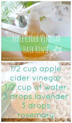 DIY Apple Cider Vinegar Rinse for Shiny Hair