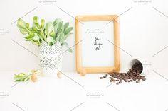 Frame Leafs and Coffee by AZ Creative Stocks on @creativemarket