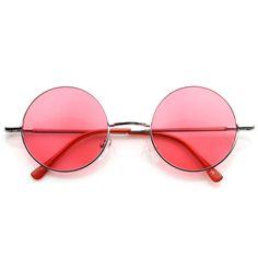 56a5d90ea2 Retro Hippie Fashion Metal Lennon Round Sunglasses Color Lens 8594 Hippie  Fashion