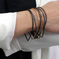 Droplet Bracelet Set of 8 \ Megan Auman