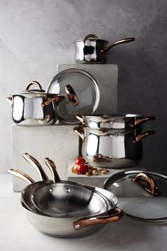 Anthropologie Copper-Handled Cookware Set #anthrofave