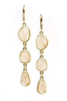 Ivory druzy earrings :)