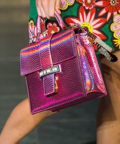 Best Runway Shoes and Bags at Fashion Week Spring 2015 Latest Handbags, Purses And Handbags, Runway Shoes, Pink Sparkles, House Of Holland, Luxury Bags, Spring 2015, Fashion Accessories, Shoulder Bag