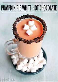 Pumpkin Pie White Hot Chocolate #Recipe