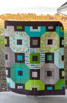 Orbit Quilt by Samantha, Making Life Prettier.  Great colorful quilt.