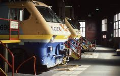 A pair of LRCs slumber inside the warm confines of the Spadina roundhouse on a frigid March day in 1985.  Check in, sign a release, secure...