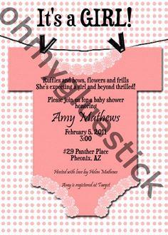 Baby Shower Invitation #babyshower #ohmygluestick