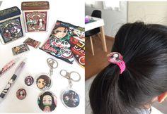 鬼滅の刃お菓子パッケージで手作りする髪ゴム | Thankyou Works Blog Washer Necklace, Drop Earrings, Personalized Items, Handmade, Jewelry, Collection, Hand Made, Jewlery, Jewerly