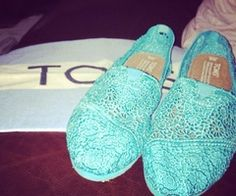 tiffany blue lace toms