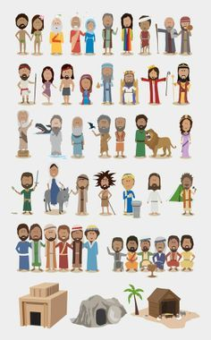 """//""""A very cute illustration of SOME OF THE MOST IMPORTANT STORIES FROM THE BIBLE. While it's not comprehensive, it would make a handy reference chart in a classroom."""""""