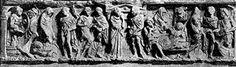 Sarcofago Barberini dalle tombe di Via Latina - mito Protesilao e Laodamia - Area ricompresa nel parco regionale dell'Appia Antica