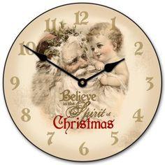 Christmas clock face