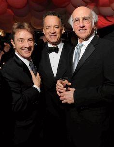 Martin Short, Tom Hanks, and Larry David at the 2011 VF Oscar Party