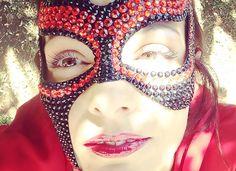 Maschera Sexy Elegante con Strass in Stile Fetish