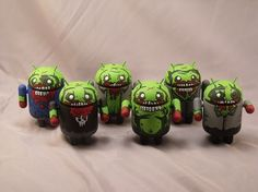 Get your own custom Undead Android today! Made to order. All Undead are original designs by artist Mostly Harmless. Custom and pesonalized 3 inch vinyl Android collectibles handpainted and matte sealed. (Pictures are of past figures to show style) Figure is made after order is placed, please allo...