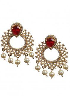 One Gram Gold Chandbali Earring Set Product code: MIJA90E227 Retail price: 1150/- Sale price : 1095/-