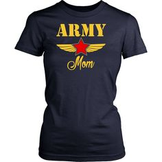 Proud Army Mom T Shirt America Military Patriotic Mother