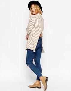 ASOS+Open+Back+Shirt+in+Stripe