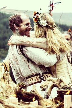 Floki and Helga getting hitched in ancient Norse style...