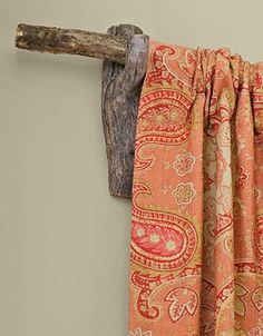 tree limb curtain rod